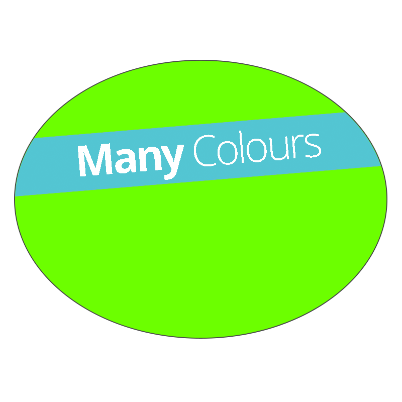 Oval - Fluorescent Vinyl - Printed Labels & Stickers - StickerShop