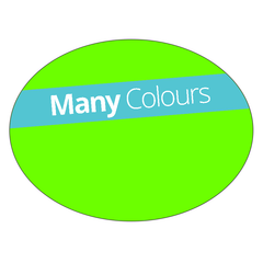 Oval - Fluorescent Vinyl - Printed Labels & Stickers