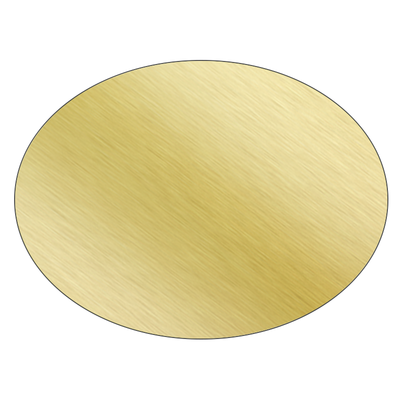 Oval - Brushed Gold Vinyl - Printed Labels & Stickers - StickerShop