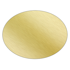 Oval - Brushed Gold Vinyl - Printed Labels & Stickers