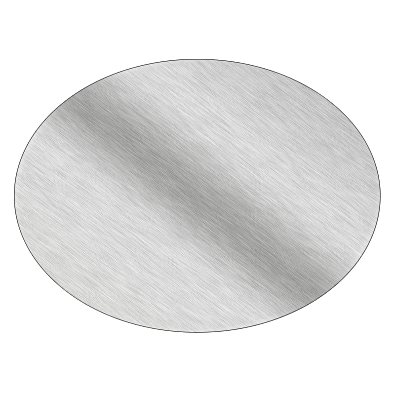 Oval - Brushed Silver Vinyl - Printed Labels & Stickers - StickerShop