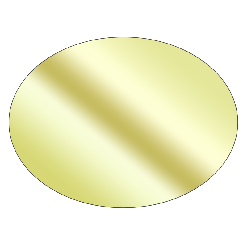 Oval - Mirrored Gold Vinyl - Printed Labels & Stickers - StickerShop