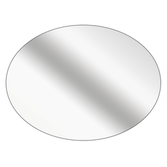 Oval - Mirrored Silver Vinyl - Printed Labels & Stickers