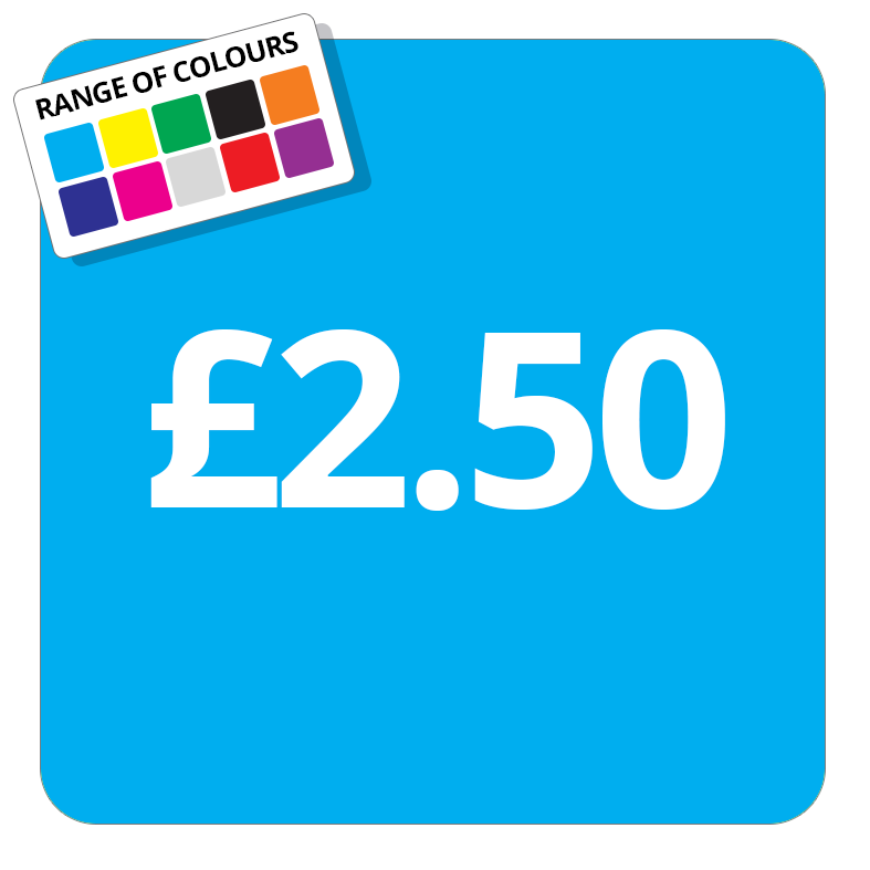 £2.50 Printed Price Sticker - 37mm Square