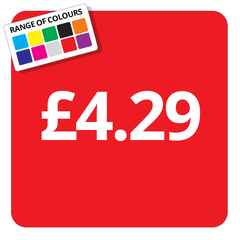 £4.29 Printed Price Sticker - 25mm Square