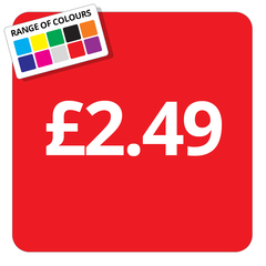 £2.49 Printed Price Sticker - 25mm Square