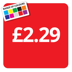 £2.29 Printed Price Sticker - 25mm Square