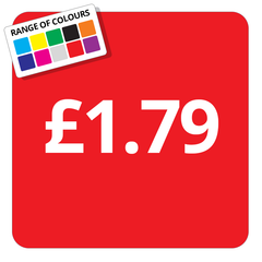 £1.79 Printed Price Sticker - 25mm Square