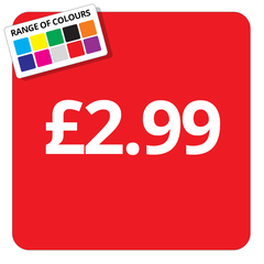 £2.99 Printed Price Sticker - 25mm Square
