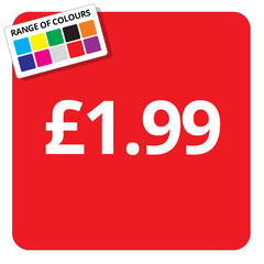 £1.99 Printed Price Sticker - 25mm Square
