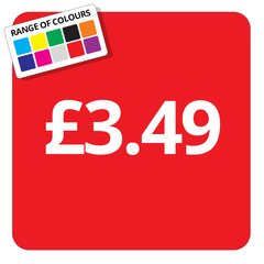 £3.49 Printed Price Sticker - 25mm Square