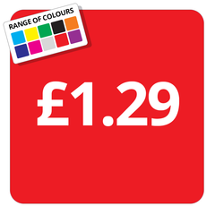 £1.29 Printed Price Sticker - 25mm Square