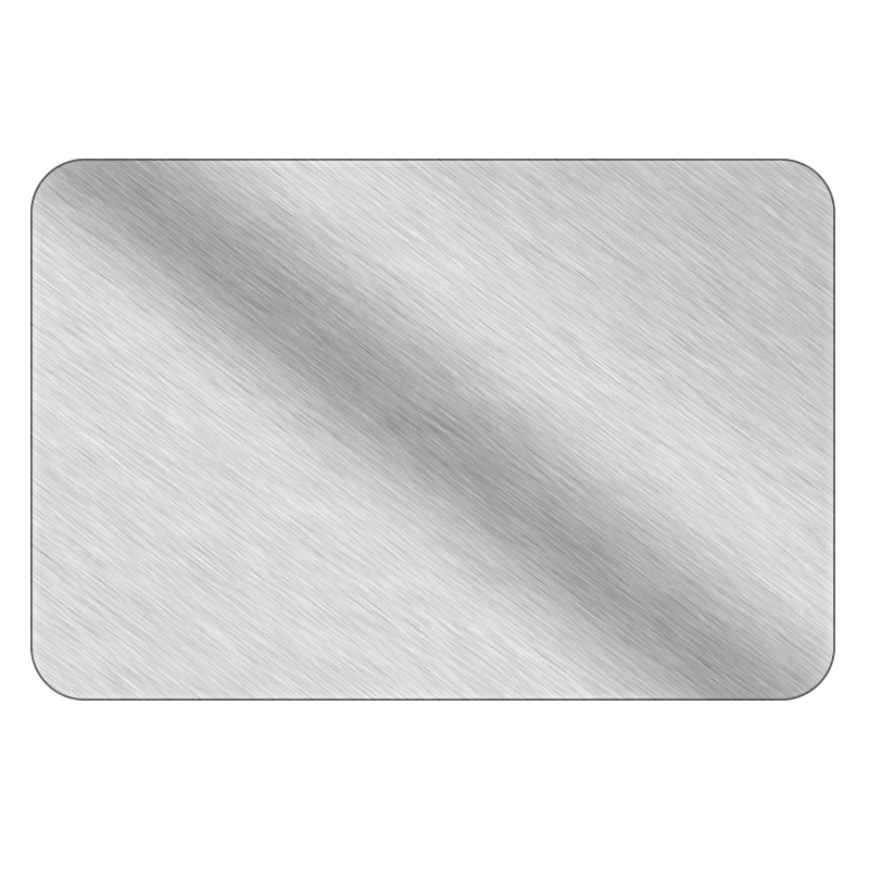 Rectangle - Brushed Silver Vinyl - Printed Labels & Stickers - StickerShop