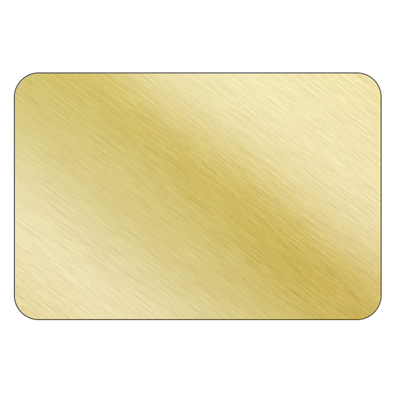 Rectangle - Brushed Gold Vinyl - Printed Labels & Stickers - StickerShop