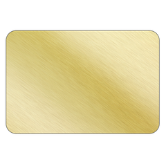Rectangle - Brushed Gold Vinyl - Printed Labels & Stickers
