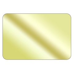Rectangle - Mirrored Gold Vinyl - Printed Labels & Stickers