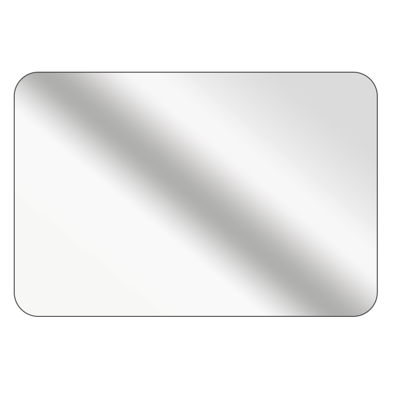 Rectangle - Mirrored Silver Vinyl - Printed Labels & Stickers - StickerShop