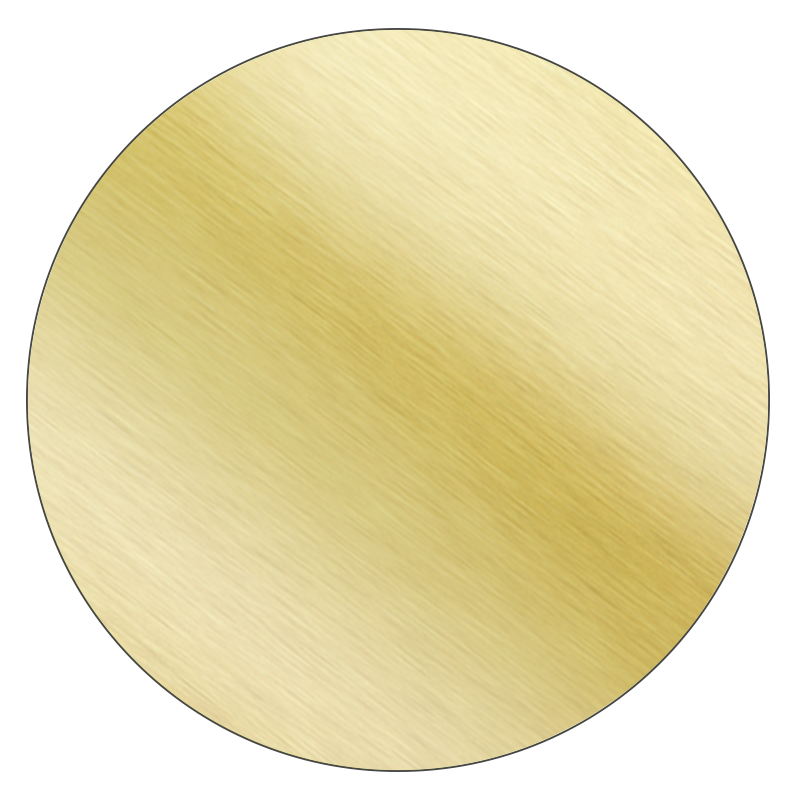 Round - Brushed Gold Vinyl - Printed Labels & Stickers