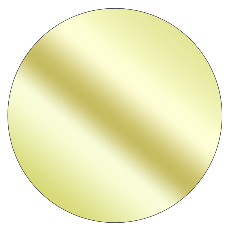 Round - Mirrored Gold Vinyl - Printed Labels & Stickers - StickerShop
