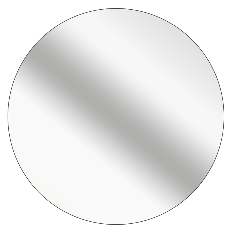 Round - Mirrored Silver Vinyl - Printed Labels & Stickers - StickerShop
