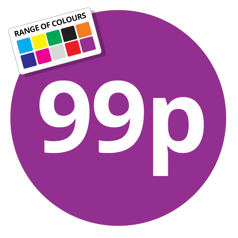 Printed price labels 99p price stickers stickershop co uk