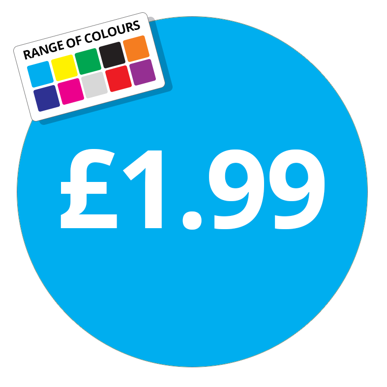 £1.99 Printed Price Sticker - 37mm Round Purple