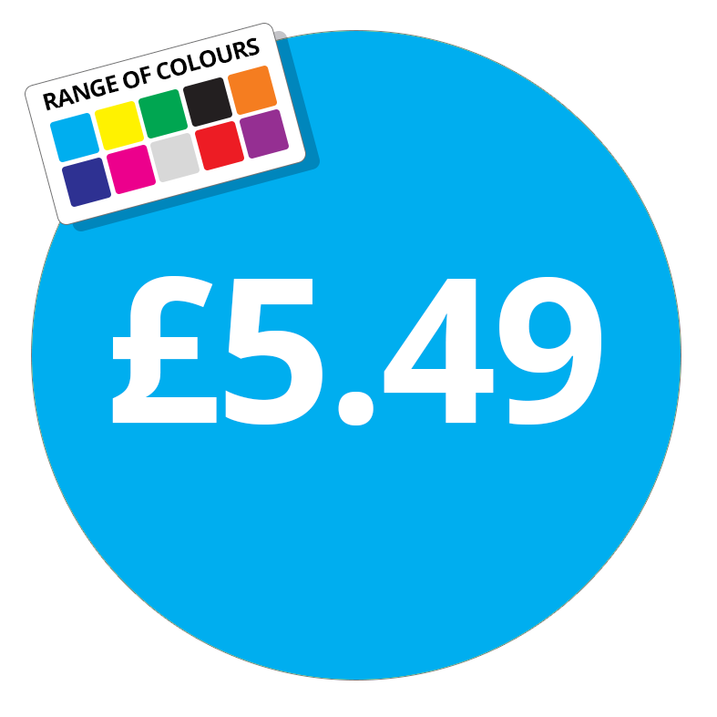 £5.49 Printed Price Sticker - 51mm Round Dark Blue