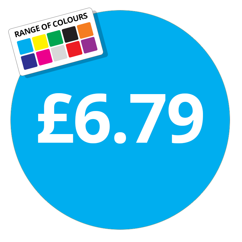 £6.79 Printed Price Sticker - 51mm Round Purple