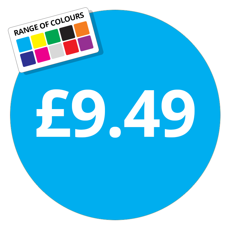 £9.49 Printed Price Sticker - 51mm Round Purple