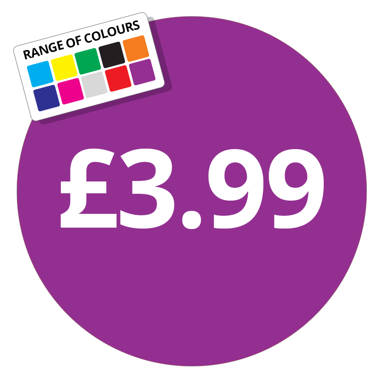 Printed price labels £3 99 price stickers stickershop co uk