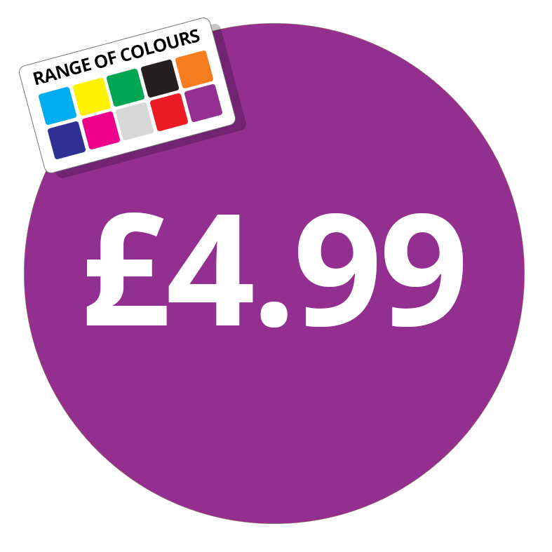 Printed price labels £4 99 price stickers stickershop co uk
