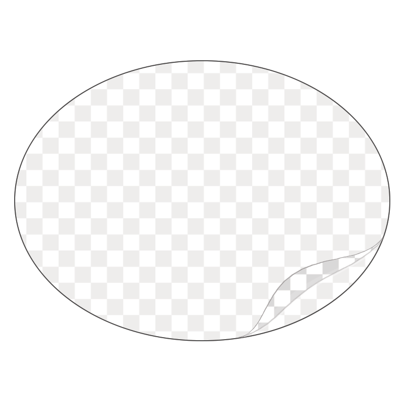 Oval - Clear Laminated Vinyl - Printed Labels & Stickers - StickerShop