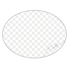 Oval - Clear Laminated Vinyl - Printed Labels & Stickers