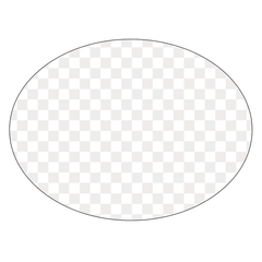 Oval - Clear Window Cling - Printed Labels & Stickers