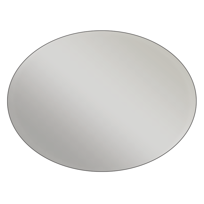 Oval - Metallic Silver Vinyl - Printed Labels & Stickers - StickerShop