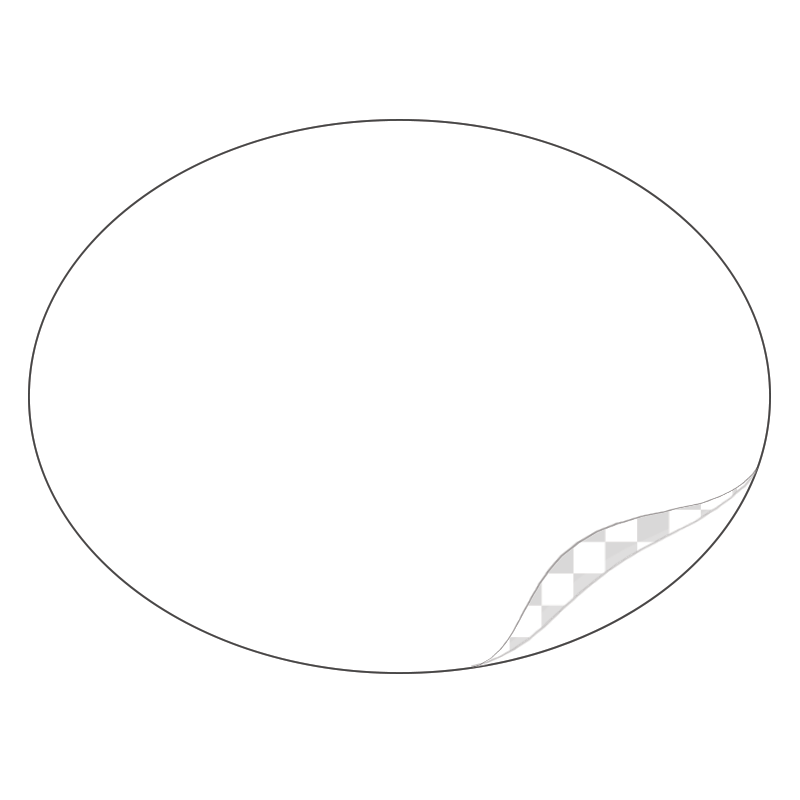 Oval, Durable White Laminated Vinyl - Printed Labels & Stickers