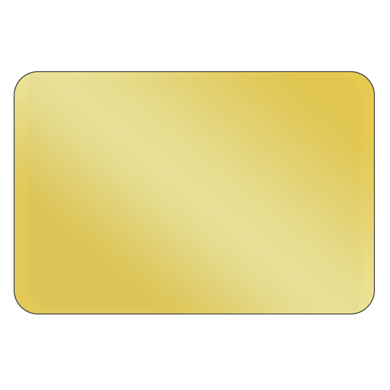 Rectangle - Metallic Gold Vinyl - Printed Labels & Stickers - StickerShop