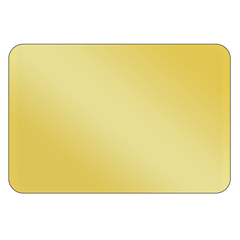 Rectangle - Metallic Gold Vinyl - Printed Labels & Stickers