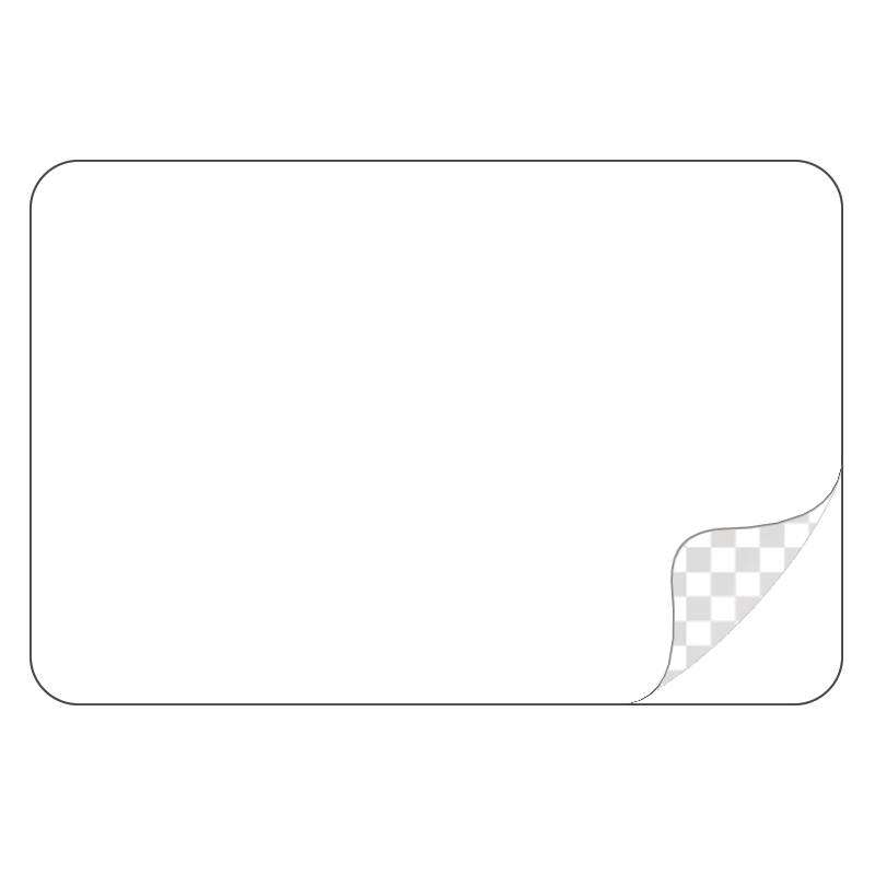 Rectangle, Durable White Laminated Vinyl - Printed Labels & Stickers - StickerShop