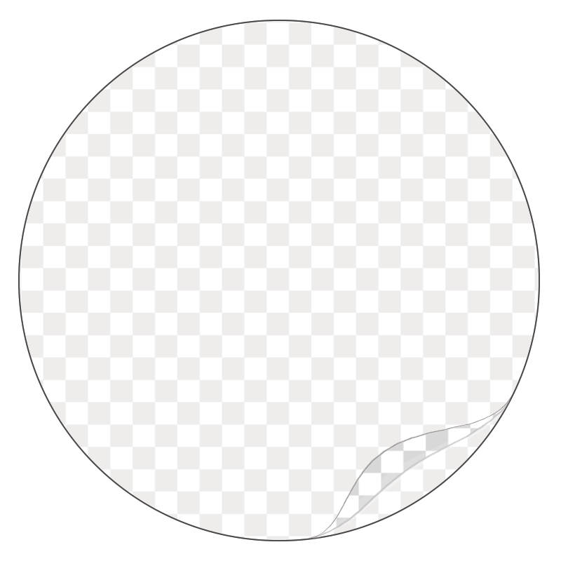 Round, Clear Durable Laminated Vinyl - Printed Labels & Stickers - StickerShop