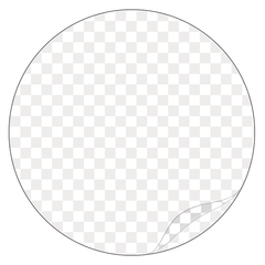 Round - Clear Laminated Vinyl - Printed Labels & Stickers