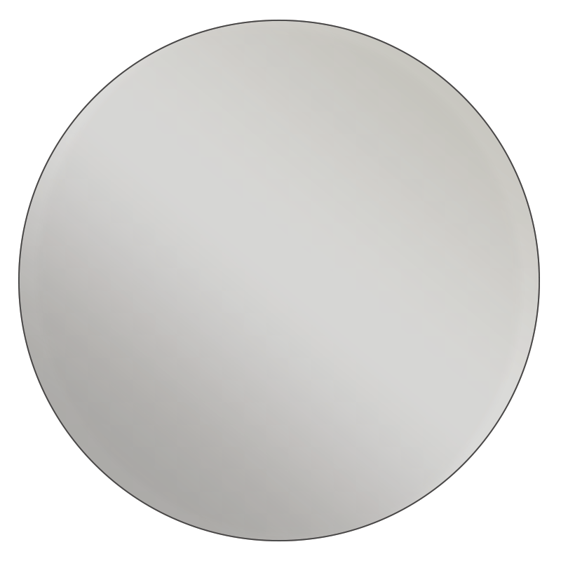 Round metallic silver vinyl printed labels stickers