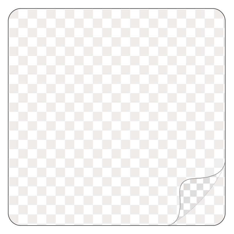 Square, Clear Durable Laminated Vinyl - Printed Labels & Stickers