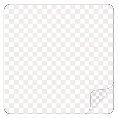Square - Clear Laminated Vinyl - Printed Labels & Stickers