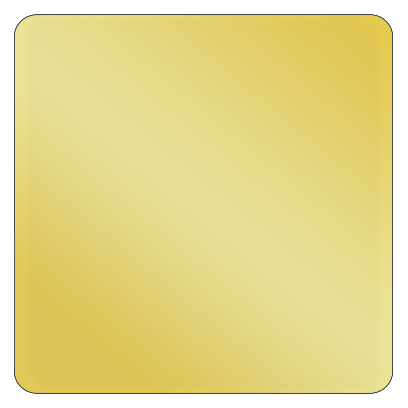 Square - Metallic Gold Vinyl - Printed Labels & Stickers - StickerShop