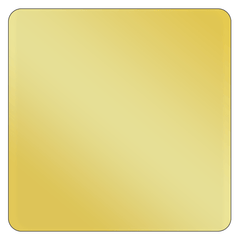 Square - Metallic Gold Vinyl - Printed Labels & Stickers