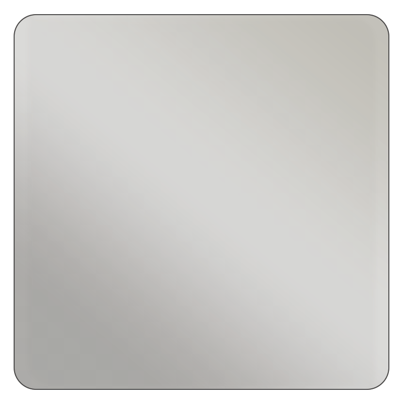 Square - Metallic Silver Vinyl - Printed Labels & Stickers - StickerShop