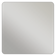 Square - Metallic Silver Vinyl - Printed Labels & Stickers