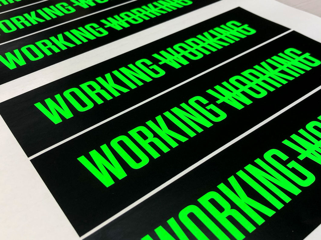 Printed Fluorescent Stickers