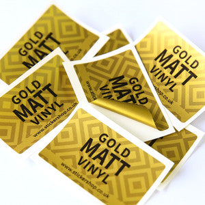 Metallic Gold<br> Labels Printed Stickers